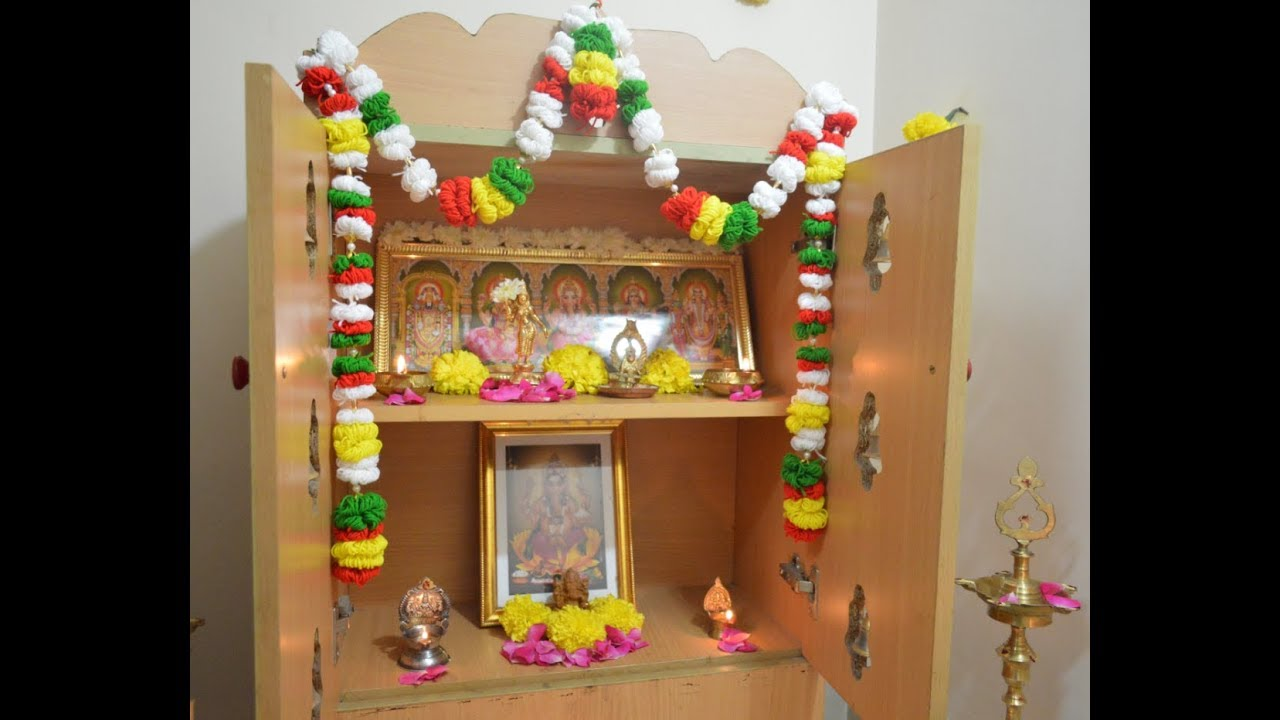 Pooja Room Thoranam Cotton Ball Thoranam Pooja Room Decoration