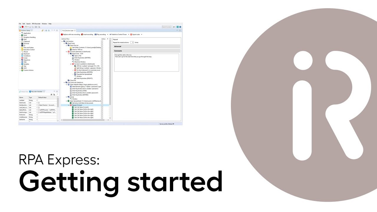 Lesson 1 - Getting started with WorkFusion RPA Express