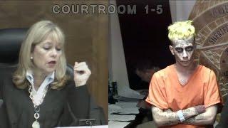 "Man who resembles ""Joker"" attends bond court hearing in Florida"