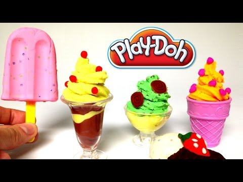 Play Doh Ice cream cupcakes egg surprise playset playdough by Unboxingsurpriseegg