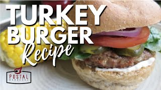 Turkey Burger Recipe - How To Make Turkey Burgers on the BBQ
