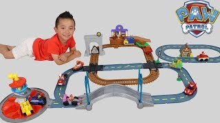 PAW PATROL Mega Roll Patrol Track Set 3 In 1 Lookout Tower Railway Barn
