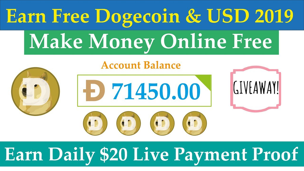 Make Money Online | Earn Free Dogecoin 2019 | Earn Daily 20$ Live Withdraw  Payment Proof Urdu Hindi