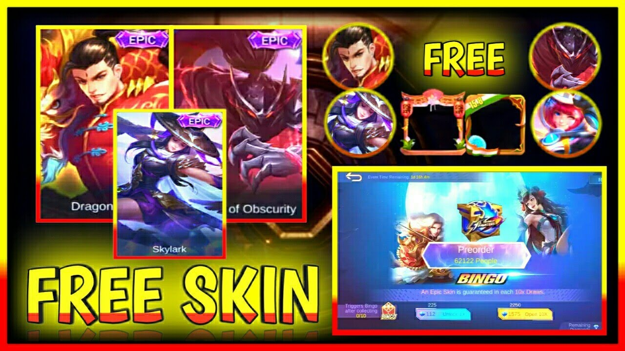 FREE EPIC SKIN + FREE DRAW EVENT KOF ENCORE EVENT 2020 | Mobile Legends