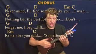 Someone Like You (Adele) Ukulele Cover Lesson in G with Chords/Lyrics