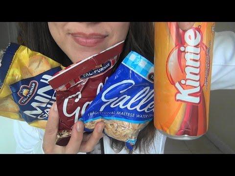 ASMR: Maltese Snacks | Snacks from Malta | Eating Sounds
