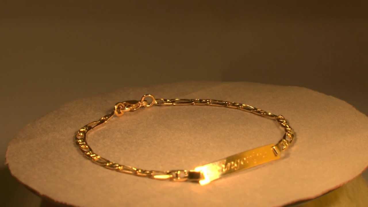 Favori Gourmette pour femme en or - le bracelet bleu FA67