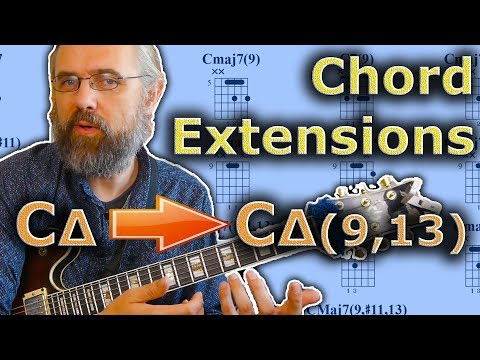 Chord Extensions - How To Add Extensions to Jazz Chords