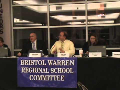 Bristol Warren Regional School Committee Meeting 10.27.2014