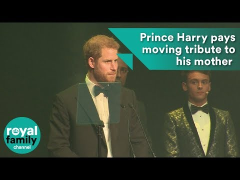 Prince Harry pays tribute to his mother in moving speech