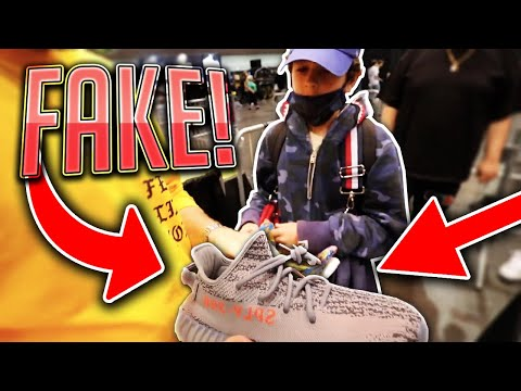 EXPOSING FAKE YEEZYS AT A SNEAKER CONVENTION