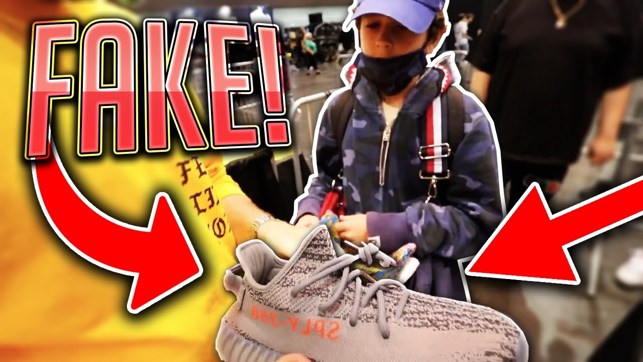 8b0c0071505 EXPOSING FAKE YEEZYS AT A SNEAKER CONVENTION - YouTube