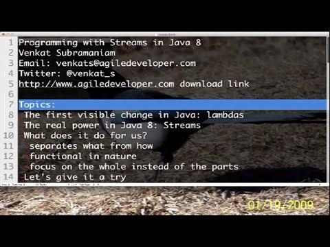 Programming With Streams In Java 8 | Venkat Subramaniam