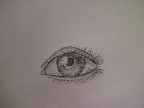 Realistisches Auge zeichnen. Augen, Pupille und Iris malen. Einfach