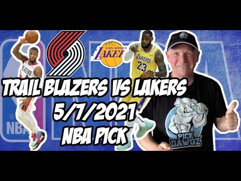 NBA Betting Pick: Los Angeles Lakers at Portland Trail Blazers 5/7/21 Free NBA Pick and Prediction