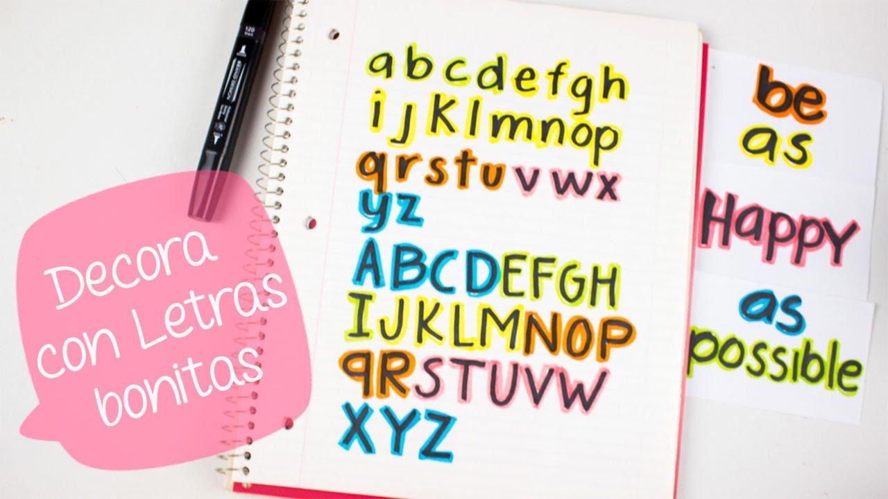 Letras Bonitas Para Decorar Cuadernos