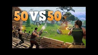 Time For Chaos in Free Fortnite Battle Royale 50 vs 50 & Solos Dilly Dilly