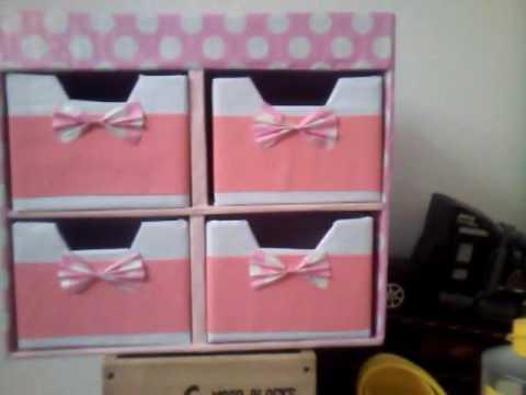 Diy Cajonera de Carton para nias  mini drawers
