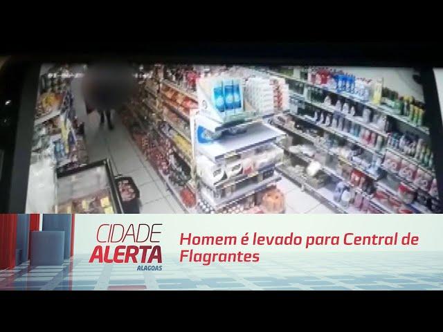 Homem é levado para Central de Flagrantes após furtar peças de picanha importada