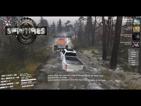 Spintires Florida Mud Truck Trailing! MP