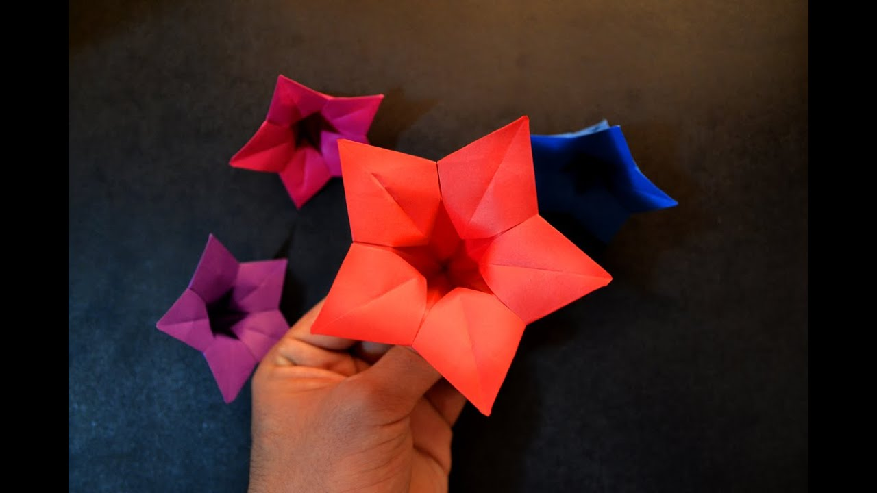 Origami chinese bell flower vera young youtube youtube premium mightylinksfo