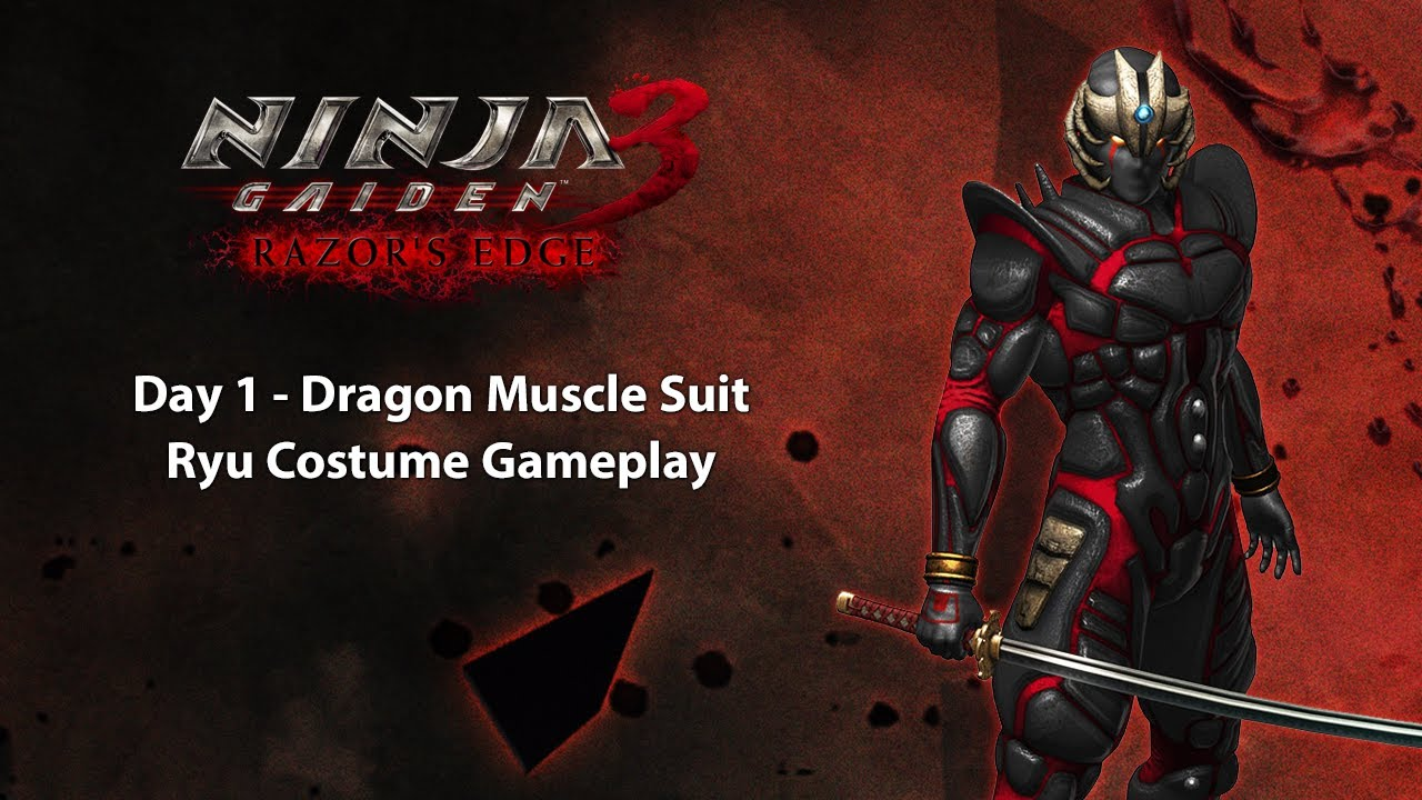 Ninja Gaiden 3 Razor S Edge Ps3 Day 1 Dragon Muscle Suit Ryu