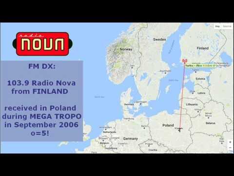 Radio Nova, FINLAND (1000 km TROPO FM DX)