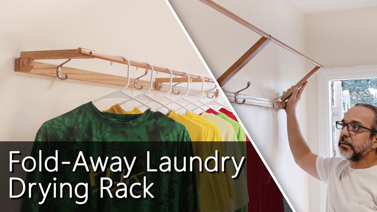 drying racks for laundry room mudroom diy wall mounted folding clothes hanger