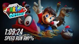 Super Mario Odyssey any% speedrun 1:09:24 by mistermv