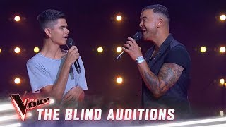 The Blind Auditions: Guy and Budjerah sing 'Climb Every Mountain'
