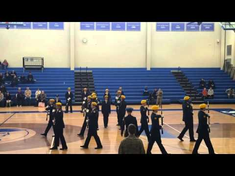 Caesar Rodney high school Honor Guard Armed-X team 2016