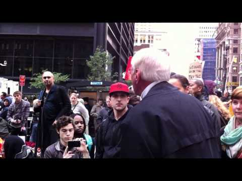 Presidential Candidate Harry Braun at #OccupyWallStreet 2/2