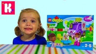Доктор Плюшева набор конструктора с машинкой и фигурками распаковка Lego Duplo Doc MCStuffins