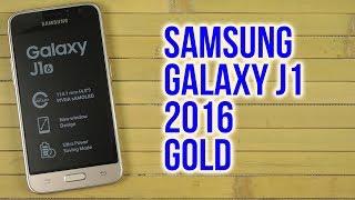 Распаковка Samsung Galaxy J1 2016 SM-J120H Gold