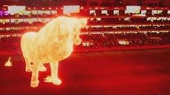 Estudiantes mark return to stadium with giant lion hologram