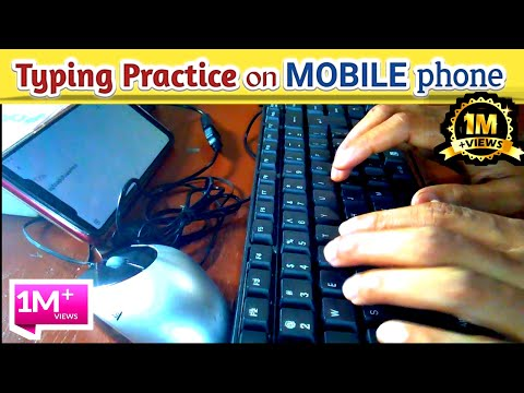 How To Connect Keyboard And Mouse With Mobile Phone। Typing Practice On Your Mobile Phone#typing