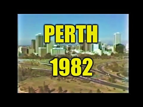 Perth city skyline 1982