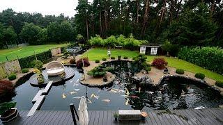 Modern Koi Blog #2065 - Günters selbstgebaute traumhafte Teichlandschaft