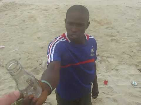 Real Black Magic! African witch man eating glass and SAND !