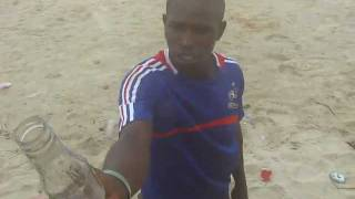 real black magic african witch man eating glass and sand