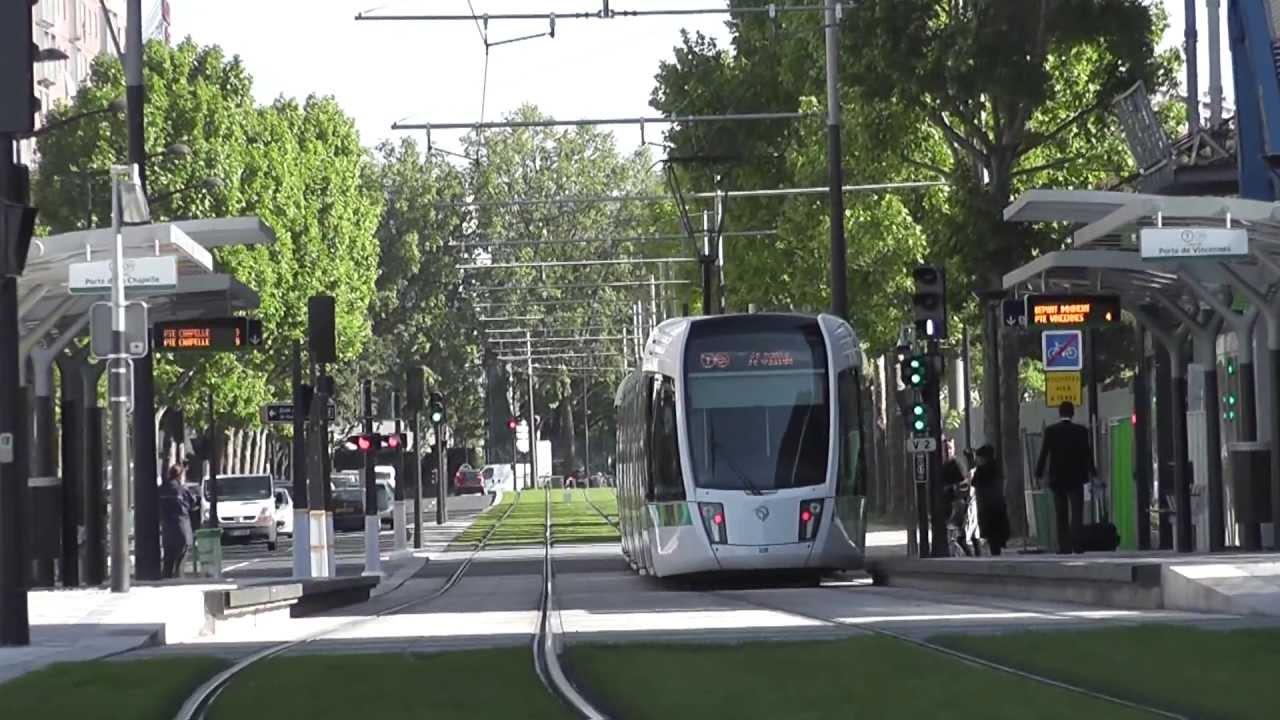 Tramway t3b de paris porte de pantin youtube - Fourriere porte de pantin ...