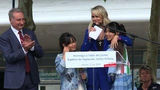 A Toulouse, émouvant hommage de Laeticia pour son