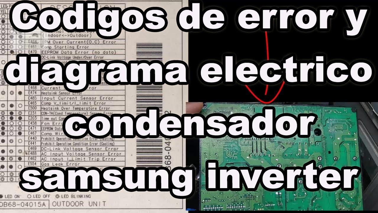 Codigos de error y diagrama electrico samsung inverter