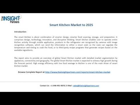 Smart Kitchen Market Size, Competitive Analysis and Forecast to 2025