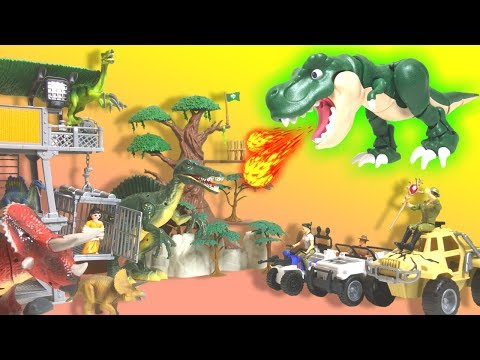 【Dinosaur Toys】Capture The Escaped Dinosaurs!!Tyrannosaurus Making 100 Pieces Assembled!!