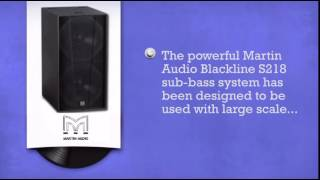 Martin Audio Blackline S218 Sub Bass Speaker - DJkit.com