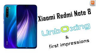 Xiaomi Redmi Note 8: Unboxing | Hands on | Price [Hindi हिन्दी]
