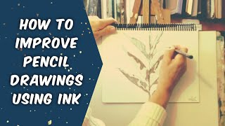 How to Improve Pencil Drawings with Ink