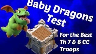 Baby Dragon Clan Castle Test Clash of Clans