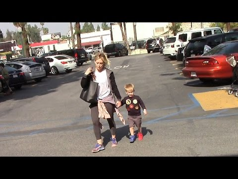 Hilary Duff's Son Luca Steals The Attention With Different Colored Shoes For Shopping thumbnail